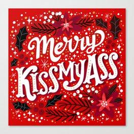 Merry Kissmyass Canvas Print