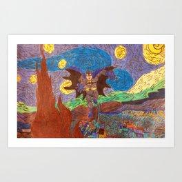 The Starry Knight Art Print