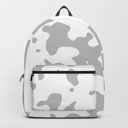 Large Spots - White and Silver Gray Backpack
