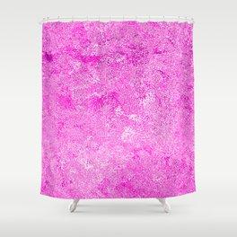 Neon Fuchsia Hot Pink Metallic Foil Shower Curtain