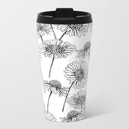 Daisies Metal Travel Mug
