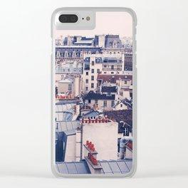 Paris Rooftops Reprise Clear iPhone Case