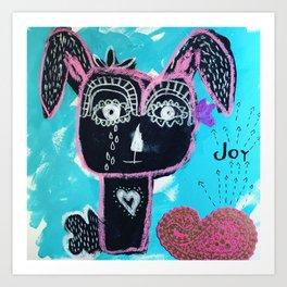 Joyful Rabbit Art Print