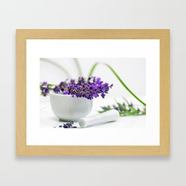 Lavender still life for pharmacies or curative practitioners Framed Art Print