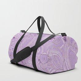 paisley purple Duffle Bag