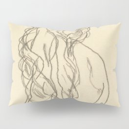 "Egon Schiele ""Standing nude girl with long hair"" Pillow Sham"