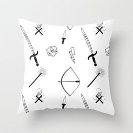 Dungeons and Patterns Throw Pillow