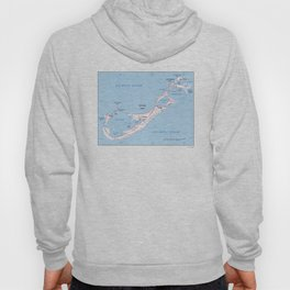Vintage Map of Bermuda (1976) Hoody