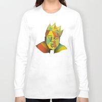 biggie Long Sleeve T-shirts featuring Biggie by Monica O