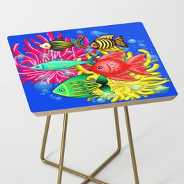 Fish Cute Colorful Doodles Side Table