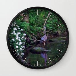 The Great Blue Heron Wall Clock
