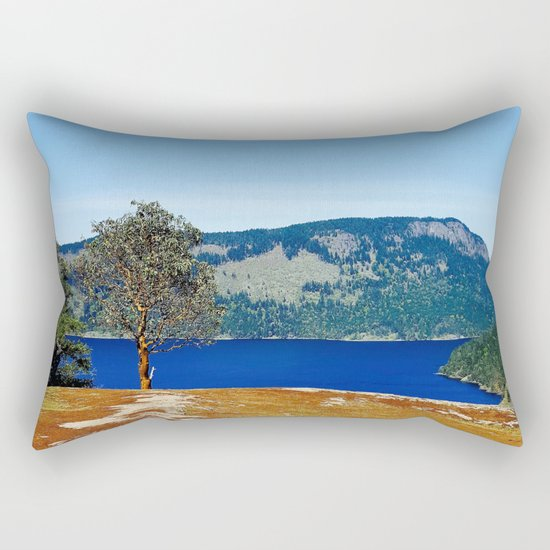 Lone Arbutus, Mid Afternoon Stoney Hill Rectangular Pillow