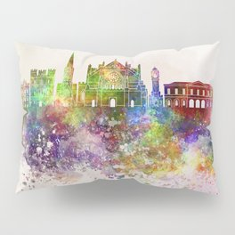 Exeter skyline in watercolor background Pillow Sham