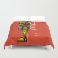 metroid Duvet Covers featuring Metroid by Slippytee Clothing