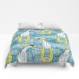 duck in wellies Comforters