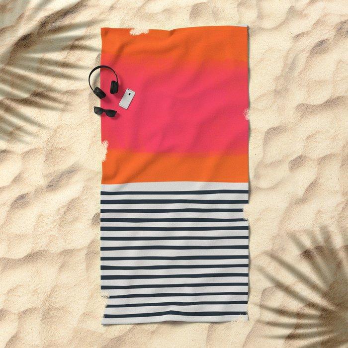 Sunset Ripples Beach Towel