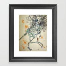 Velociraptorlady   Framed Art Print