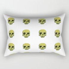 Skull In Gold Rectangular Pillow