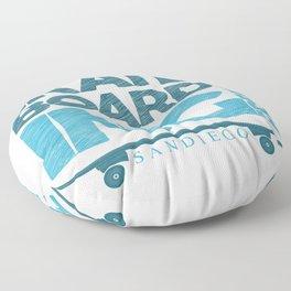 Skateboarding Freestyle San Diego Floor Pillow