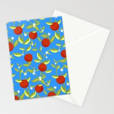 Orange Grove Pattern Stationery Cards
