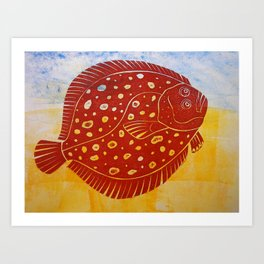 Flat Fish Art Print