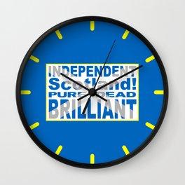 Independent Scotland Pure, Dead, Brilliant Wall Clock