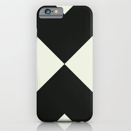 Minimal X Black iPhone Case