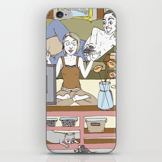 Living together iPhone & iPod Skin