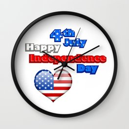 4th of July Independence Day USA Wall Clock