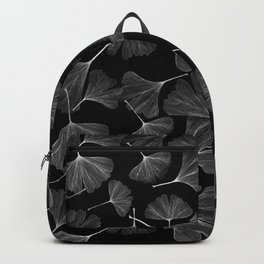 Black and white gingko pattern Backpack