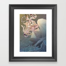 Euryale, The Ghost Of The Brine Framed Art Print