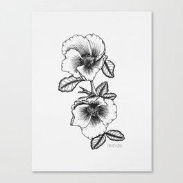 Wild Roses Canvas Print