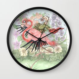 Grand Theft Flamingo Wall Clock