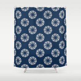 Shibori Swircles Shower Curtain