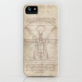 Da Vinci's Real Screw Invention iPhone Case