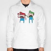 mario bros Hoodies featuring Mario Bros. by Justin Temporal