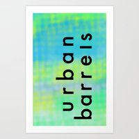 Urban Barrel Type Art Print