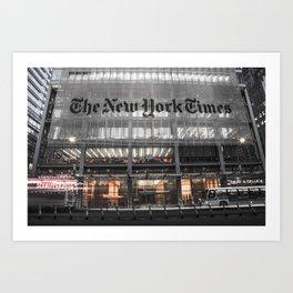 The New York Times Art Print