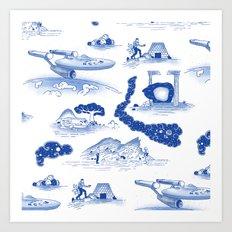 Pop Porcelain- Final Frontier  Art Print