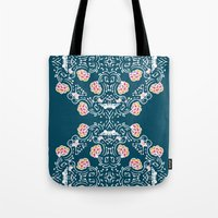 folk Tote Bags featuring Folk by katharine stackhouse