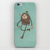 sasquatch iPhone & iPod Skins featuring Sasquatch Cowboy by Sasquatch Cowboy