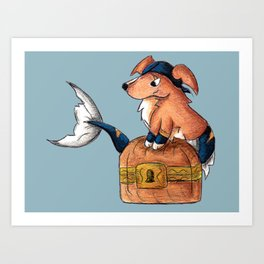 Treasure Retriever Art Print