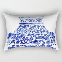 Blue and White China Ginger Jar 4 Rectangular Pillow