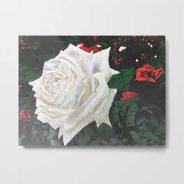 DON'T PAINT THE ROSES Metal Print