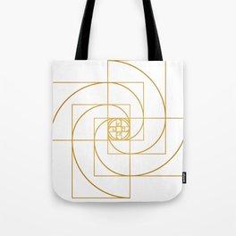 Golden Pinwheel Tote Bag