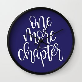 One More Chapter (blue) Wall Clock
