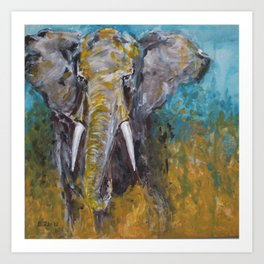 African Elephant Bull Art Print