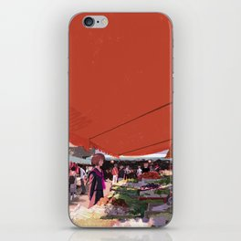 At a market in Taipei iPhone Skin