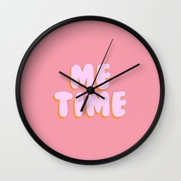 'Me Time' Bubble gum Letters Wall Clock
