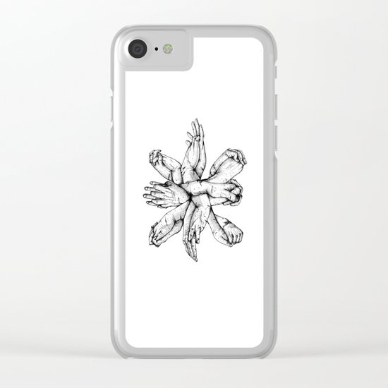 Bound : Hands Clear iPhone Case